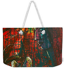 Weekender Tote Bag featuring the painting Radiating Light by Mini Arora