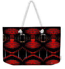Weekender Tote Bag featuring the photograph Radiation Dna Glow by Clayton Bruster