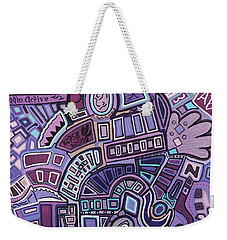 Weekender Tote Bag featuring the painting Radio Active by Barbara St Jean