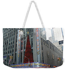 Radio City Christmas Weekender Tote Bag