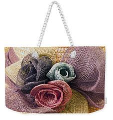 Raffia Roses Macro Weekender Tote Bag