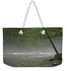 Rafting Misty River Weekender Tote Bag