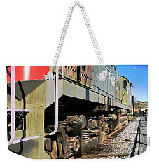 Weekender Tote Bag featuring the photograph Rail Truck by Michael Gordon
