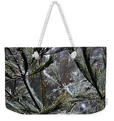 Rain On Pine Needles Weekender Tote Bag
