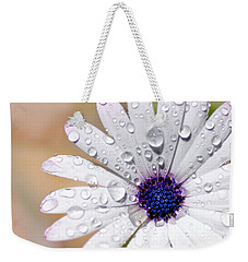 Rain Soaked Daisy Weekender Tote Bag by Kaye Menner