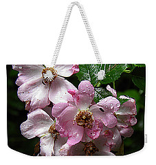 Rain Soaked Rose Weekender Tote Bag
