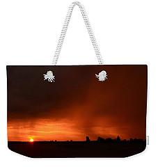 Rain Squall Sunrise Weekender Tote Bag