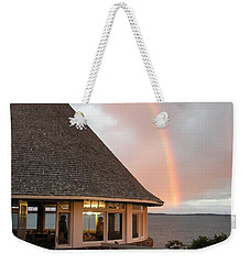 Rainbow At The Bath House Minister Island Nb Weekender Tote Bag