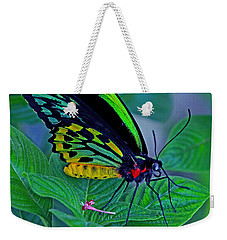 Rainbow Butterfly Weekender Tote Bag