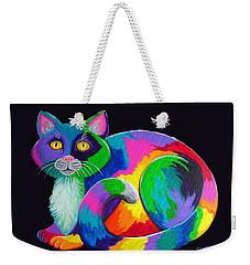 Rainbow Calico Weekender Tote Bag by Nick Gustafson