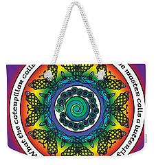 Rainbow Celtic Butterfly Mandala Weekender Tote Bag