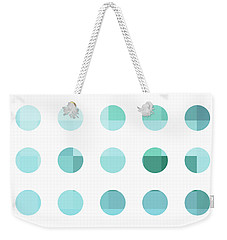 Rainbow Dots Aqua  Weekender Tote Bag