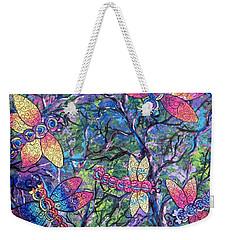 Rainbow Dragons Weekender Tote Bag