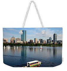 Rainbow Duck Boat On The Charles Weekender Tote Bag