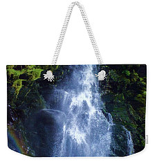 Weekender Tote Bag featuring the photograph Rainbow Falls by John Williams