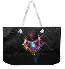 Rainbow Heart Weekender Tote Bag