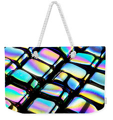 Weekender Tote Bag featuring the photograph Rainbow Hematite by Jim Hughes