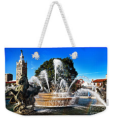 Rainbow In The Jc Nichols Memorial Fountain Weekender Tote Bag