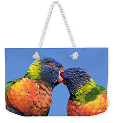 Rainbow Lorikeets Weekender Tote Bag