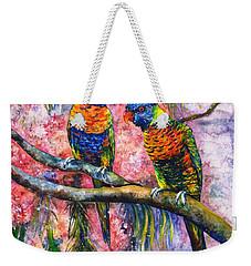 Rainbow Lorikeets Weekender Tote Bag
