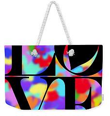 Rainbow Love In Black Weekender Tote Bag