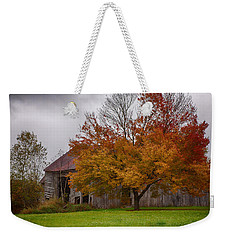 Rainbow Of Color In Front Of Nh Barn Weekender Tote Bag by Jeff Folger