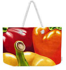 Rainbow Of Peppers Weekender Tote Bag