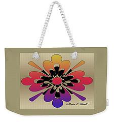 Rainbow On Gold Floral Design Weekender Tote Bag