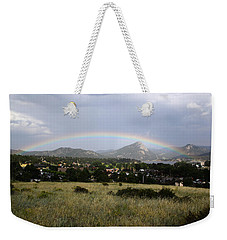 Rainbow Over Lake Estes Weekender Tote Bag