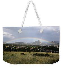 Rainbow Over Lake Estes Weekender Tote Bag