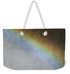 Weekender Tote Bag featuring the photograph Rainbow Over The Falls by Laurel Powell