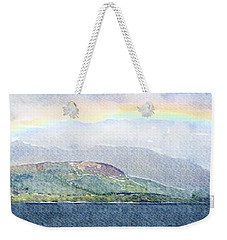 Rainbow Over The Isle Of Arran Weekender Tote Bag by Liz Leyden