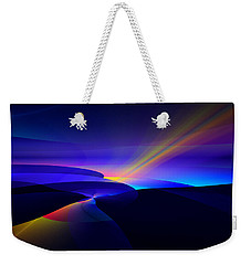 Rainbow Pathway Weekender Tote Bag by GJ Blackman