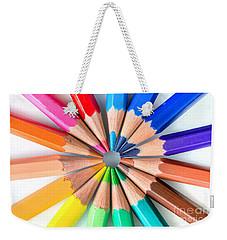 Rainbow Pencils Weekender Tote Bag