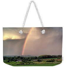 Rainbow Poured Down Weekender Tote Bag