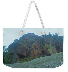 Weekender Tote Bag featuring the photograph Rainbow Rock by John Williams