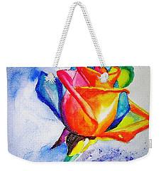 Rainbow Rose Weekender Tote Bag by Carlin Blahnik