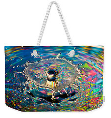 Rainbow Splash Weekender Tote Bag by Anthony Sacco