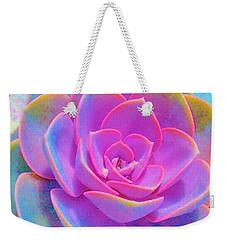 Rainbow Succulent Weekender Tote Bag