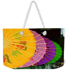 Weekender Tote Bag featuring the photograph New Orleans Rainbowellas by Michael Hoard