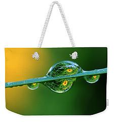 Raindrop Flowers Weekender Tote Bag
