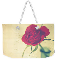 Raindrops On Roses . . . Weekender Tote Bag by Jan Bickerton