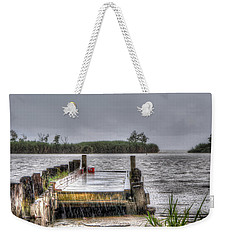 Weekender Tote Bag featuring the photograph Rained Out by Charlotte Schafer