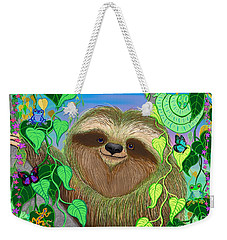 Rainforest Sloth Weekender Tote Bag by Nick Gustafson