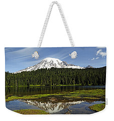 Weekender Tote Bag featuring the photograph Rainier's Reflection by Tikvah's Hope