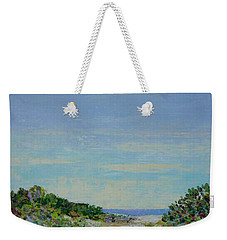 Rainy Day Beach Blues Weekender Tote Bag