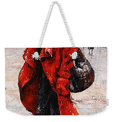 Rainy Day - Red And Black #2 Weekender Tote Bag