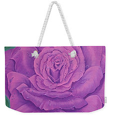 Rainy Day Rose Weekender Tote Bag