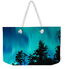 Rainy Lake Lights Weekender Tote Bag