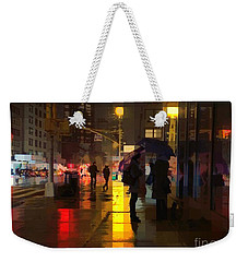 Rainy Night New York Weekender Tote Bag